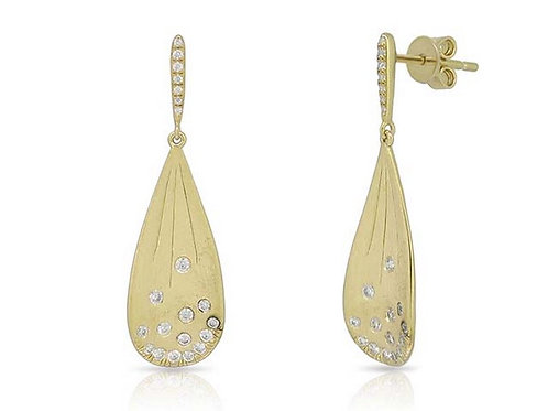 14k Yellow Gold & Diamond Earrings