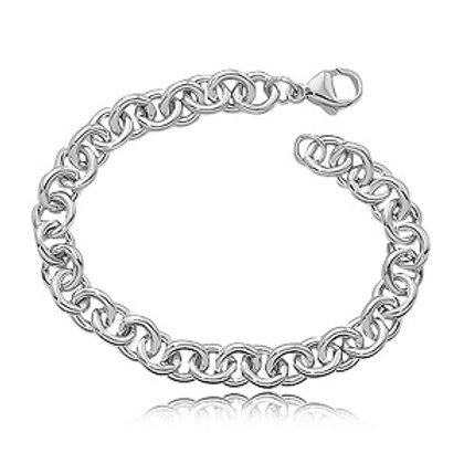Sterling Silver Cable Style Bracelet