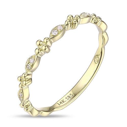 14k Yellow Gold & Diamond Rings