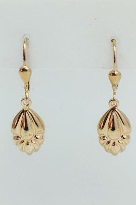14k Yellow Gold Drop Earrings