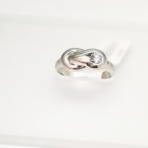 Sterling Silver & Diamond Ring