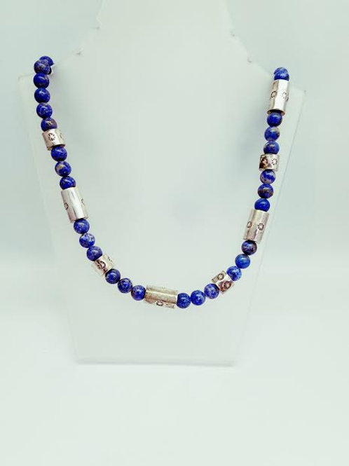 Sterling Silver & Lapis Necklace