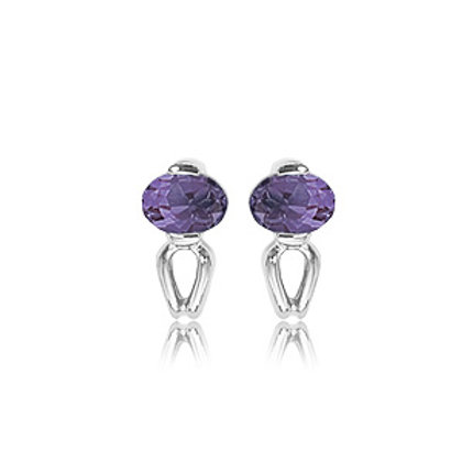 Sterling Silver & Amethyst Earrings (Also available in Citrine & Peridot)