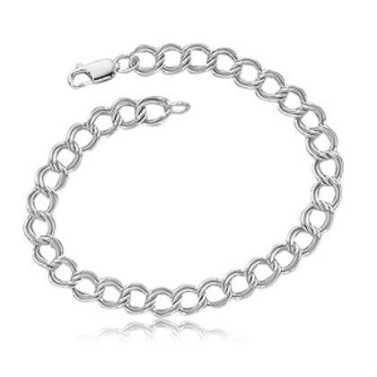 Sterling Silver Parallel Curb Bracelet