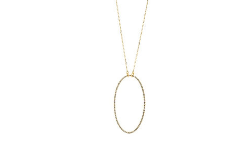 14k Yellow Gold & Diamond Necklace