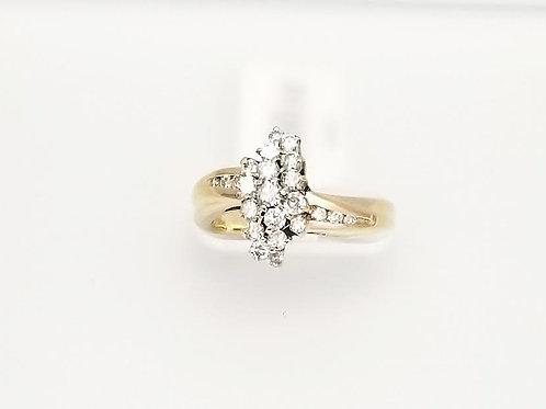 "14k Yellow Gold & Diamond ""Waterfall"" Ring"