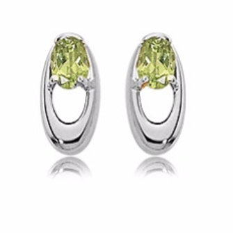 Sterling Silver & Peridot Earrings (Also available in Amethyst & Citrine)