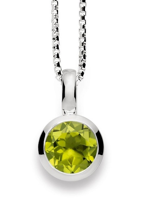 Sterling Silver & Peridot Pendant (chains sold separately)