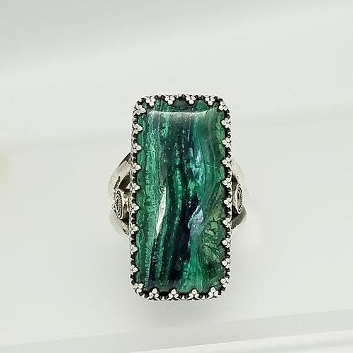 Sterling Silver & Chalcedony Stone Custom Design Ring