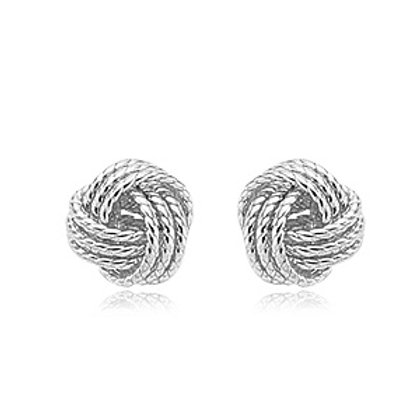 Sterling Silver Love Knot Rope Earrings