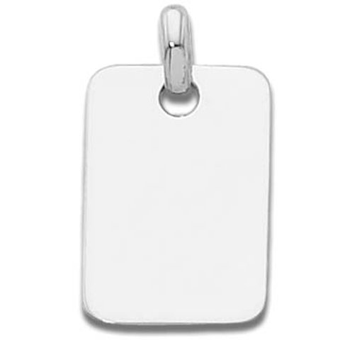 Sterling Silver Dog Tag Charm