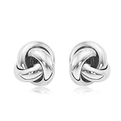 "Sterling Silver ""Love Knot"" Earrings"