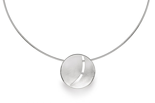 Sterling Silver & Diamond Pendant (chains sold separately)