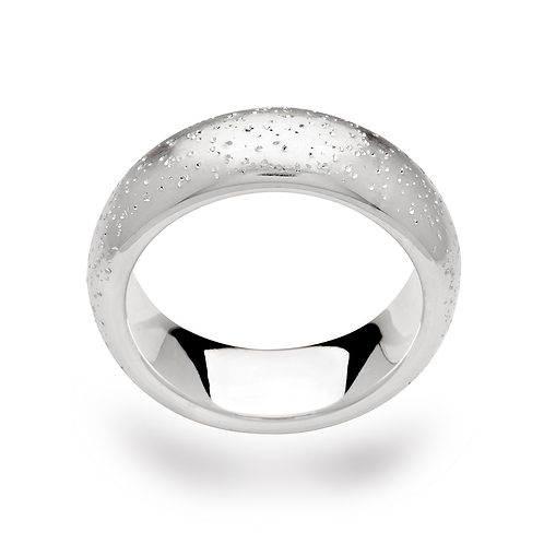Sterling Silver & Diamond (Dust) Band Ring