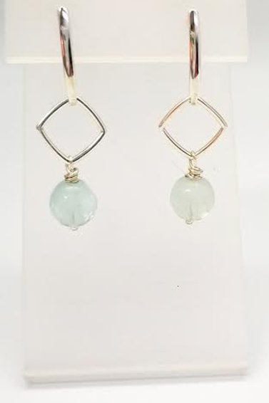 Sterling Silver & Flourite Custom Designed Earrings