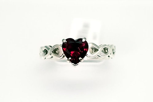 Sterling Silver & Garnet Custom Designed Ring by M.Willock