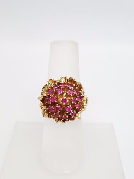 14k Yellow Gold & Ruby Ring