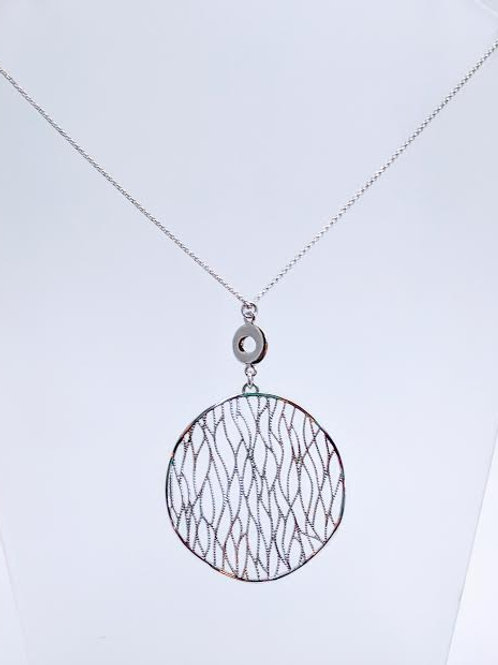 Sterling Silver Open Wire Pendant/Necklace with Chain
