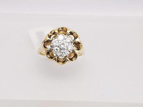 14k Yellow Gold & Diamond Ring