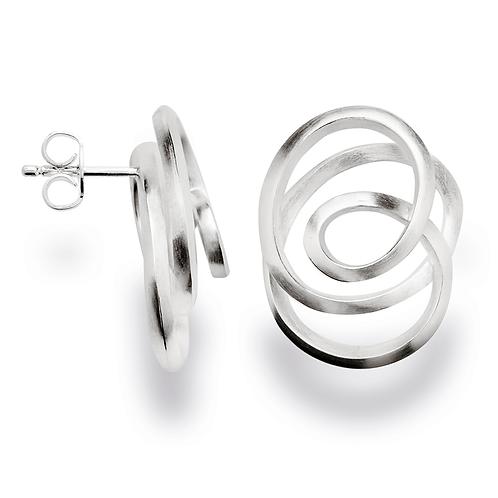 Sterling Silver Swirl Earrlings