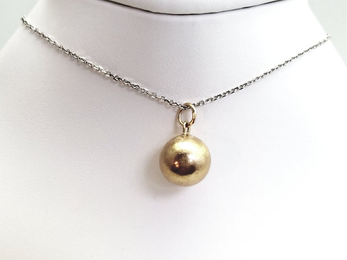 14k Yellow Gold Ball Pendant/Charm (chain not included)