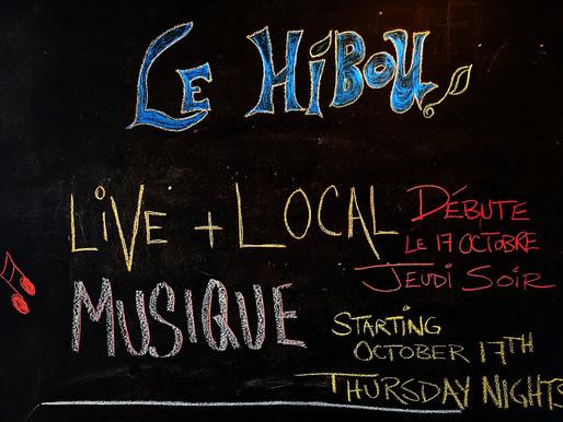 Thursdays Live & Local (et amis) Returns October 17