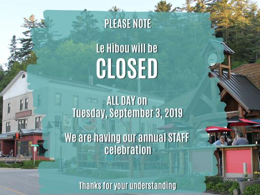 Le Hibou CLOSED SEPTEMBER 3, 2019