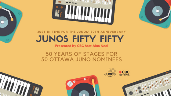 Ian Tamblyn joins fellow Ottawa JUNO nominees in Alan Neal's new series; JUNOS Fifty Fifty