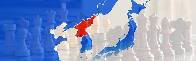 Mapa del Este de Asia, resaltando Corea del Norte