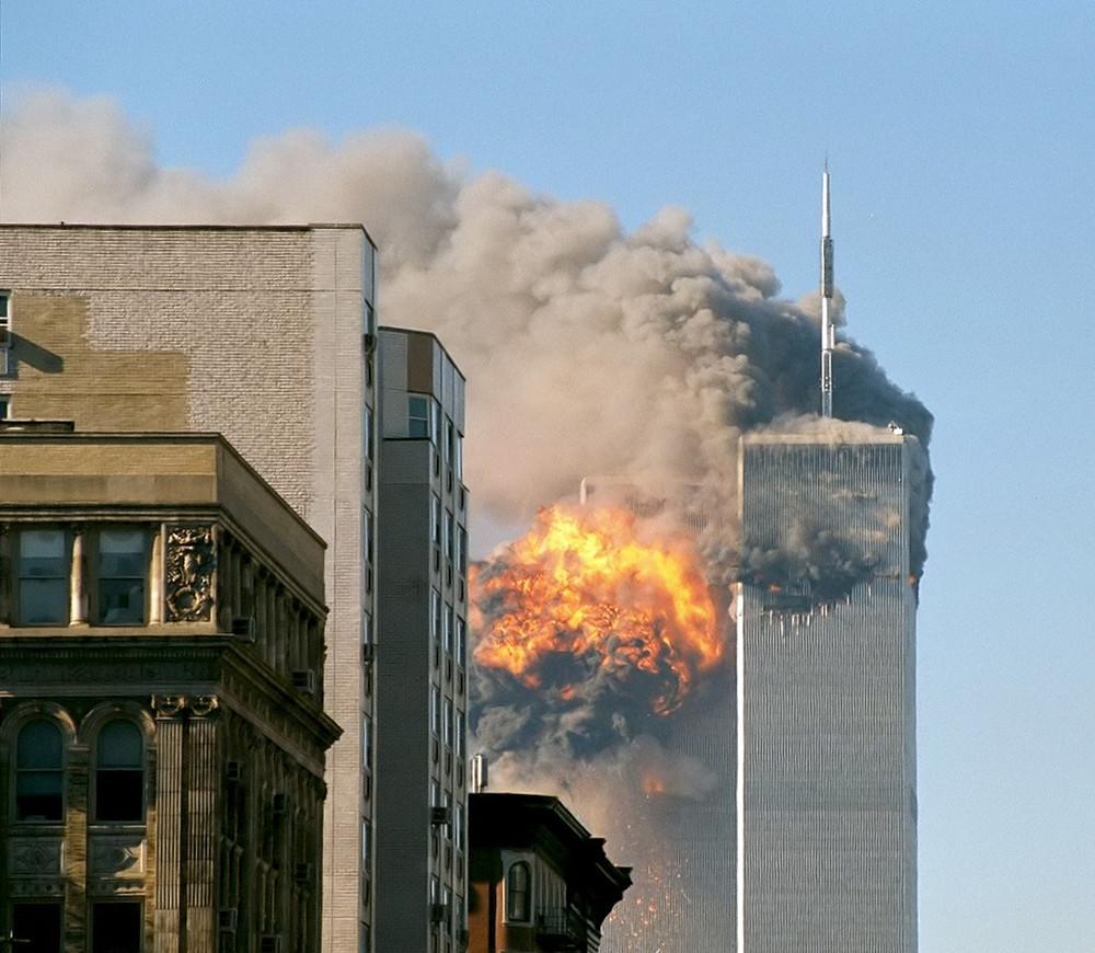 Impacto de avión contra la torre sur 11-S