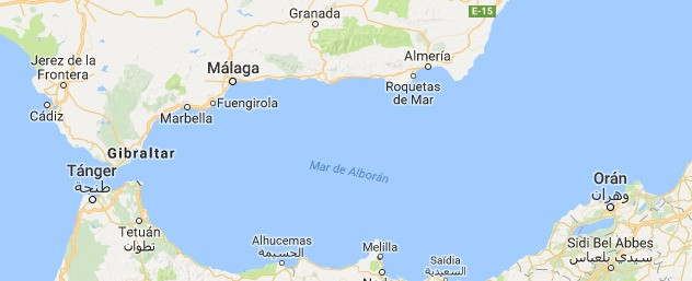Estrecho de Gibraltar vista desde satélite artificial