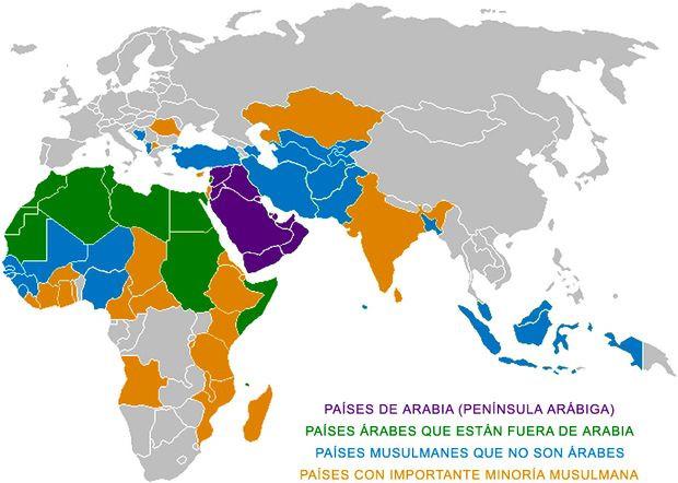 Mapa del Islam en el Mundo
