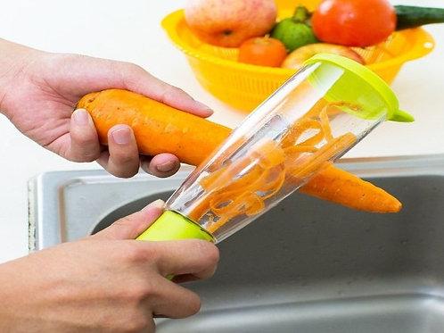 קולפן ירקות חכם עם תא אחסון