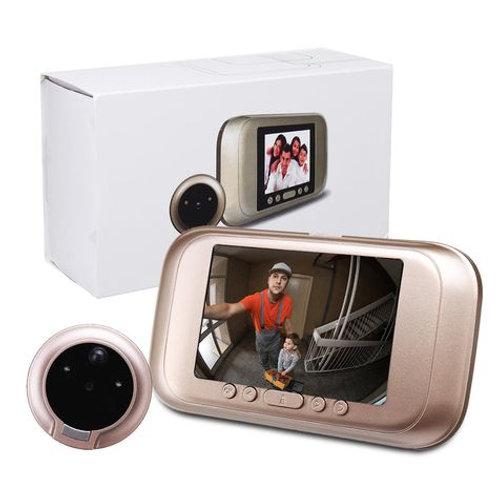 מצלמת דלת הכוללת חישן תנועה ומסך ענק