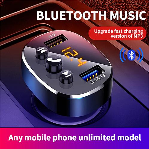 משדר FM לרכב -5.0 Bluetooth, ושקעים לטעינה