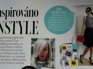 Môj outfit v časopise INSTYLE (žiarivá kabelka + monochromatický outfit)
