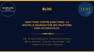 Sanctions contre sanctions : la nouvelle dégradation des relations sino-occidentales