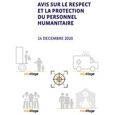 L'adoption d'un avis sur le respect et la protection du personnel humanitaire par la CNCDH