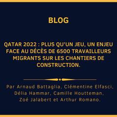 Qatar 2022 : plus qu'un jeu, un enjeu face au décès de 6500 travailleurs migrants sur les chantiers.