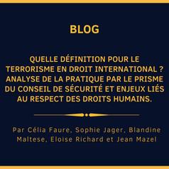 Quelle définition pour le terrorisme en droit international ?