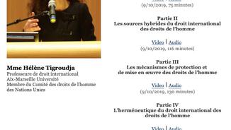 Le droit international des droits de l'homme, par la Prof. Tigroudja pour The Mini-Series