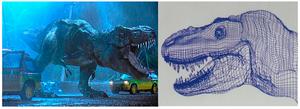 T-Rex Jurassic Park Ordenador