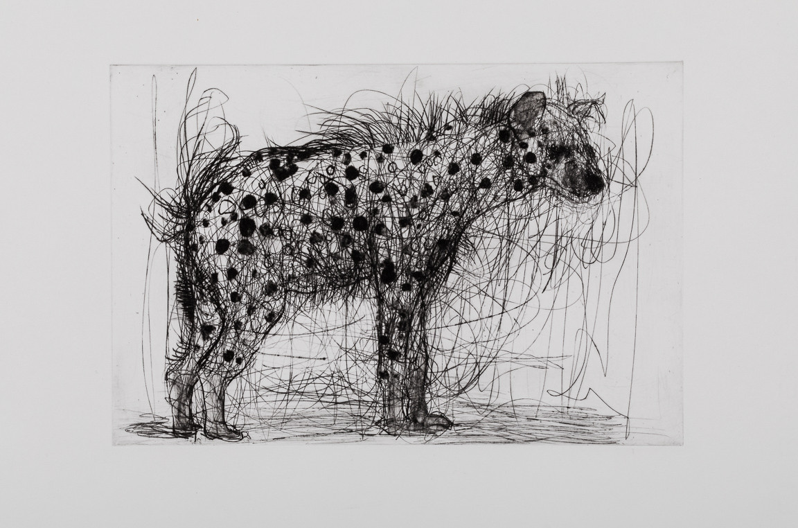 Hyena, Drypoint and Carborundum