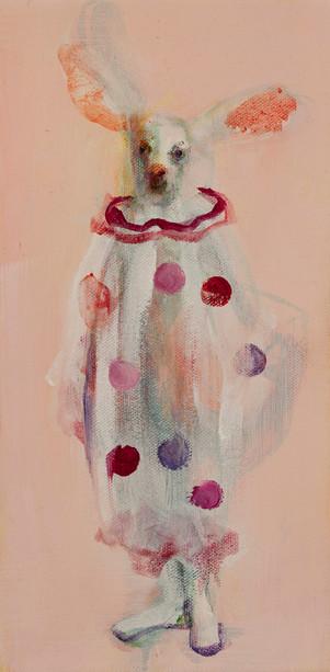 Rabbit Clown, Oil on Canvas