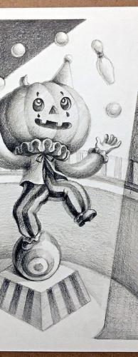 Juggling Jack-o-Lantern - Original