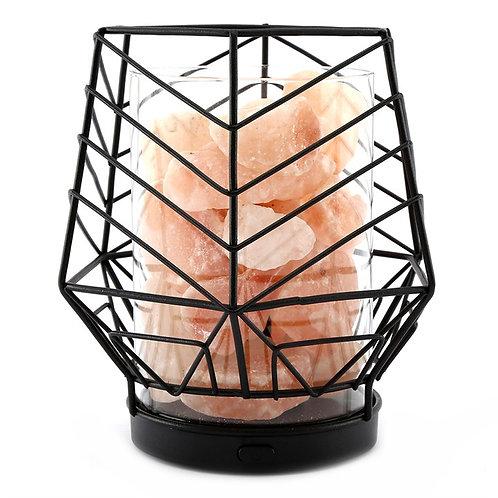 Black Wired LED Salt Lamp