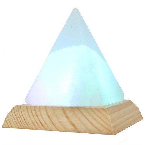 White Pyramid USB Himalayan Salt Lamp