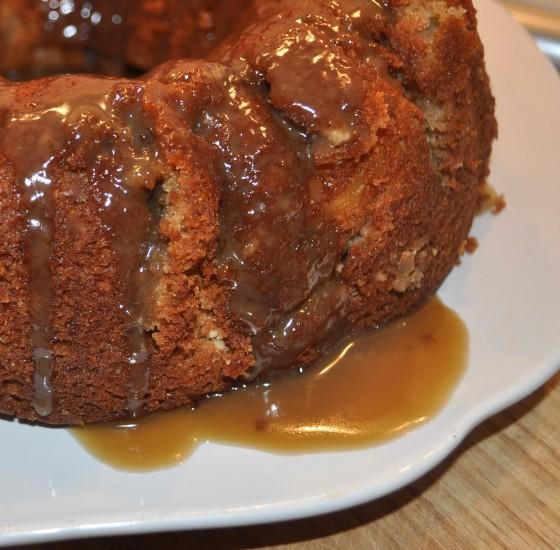 Apple Cake with Caramel Sauce