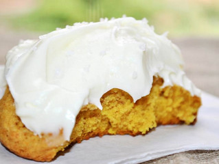 Pumpkin Cookie with Cream Cheese Frosting