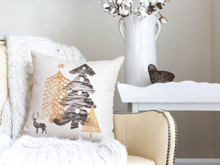 Wood Stamping Pillows